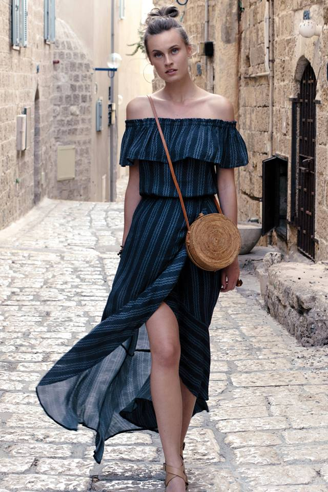 MAXI W/RUFFLE TOP AND SKIRT