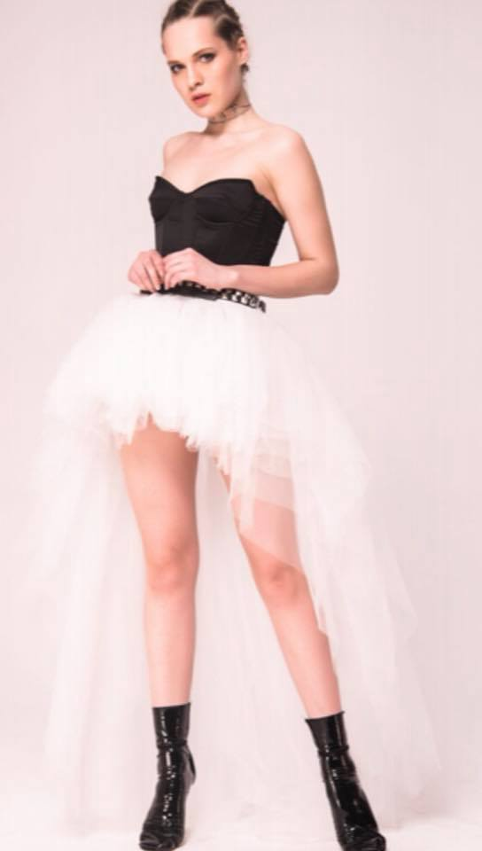 TULLE HIGH LOW SKIRT