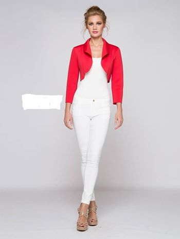 RED BOLLERO JACKET
